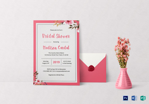 bridal shower invitation template