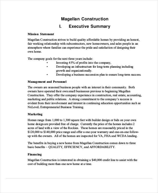 building construction business proposal - Sample Business Proposal