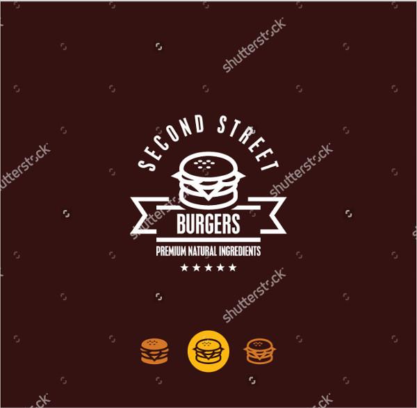 burger restaurant chalkboard logo
