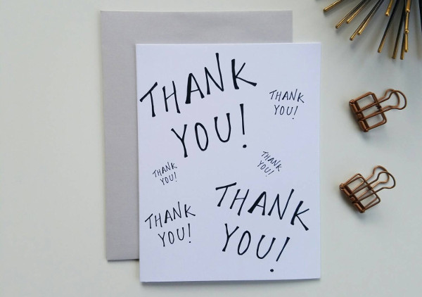 Business Birthday Thank You Card