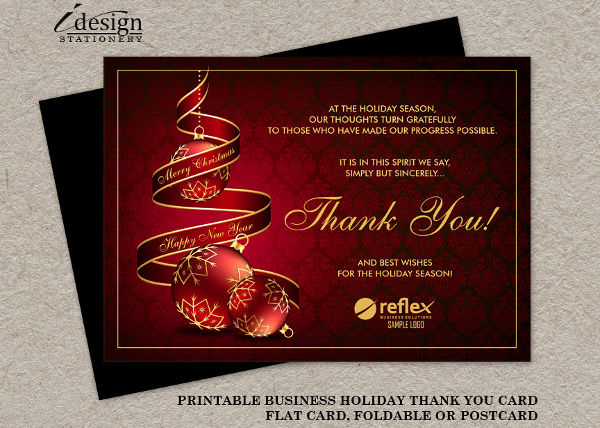 -Business Christmas Thank You Card