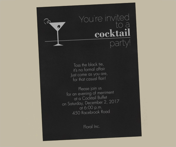 23business invitation designs examples psd ai vector eps business cocktail party invitation stopboris Images