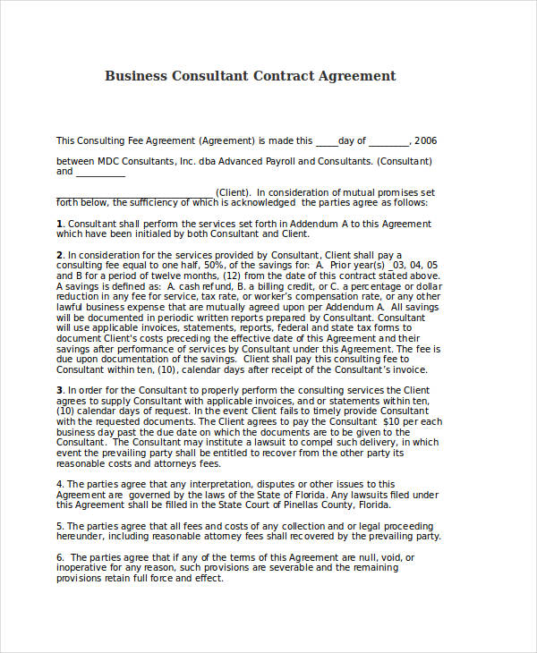 Business Agreement Examples  Samples