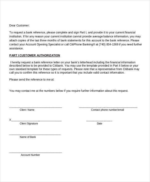 Business Reference Letter Examples