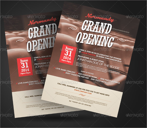 business grand opening psd flyer