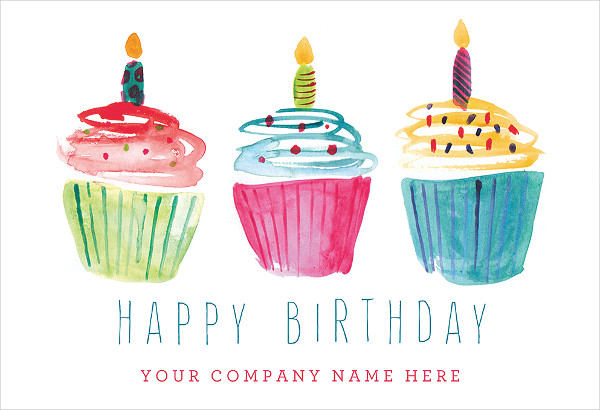 business happy birthday card