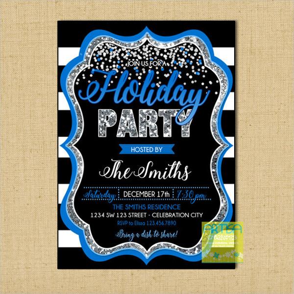 business holiday dinner invitation