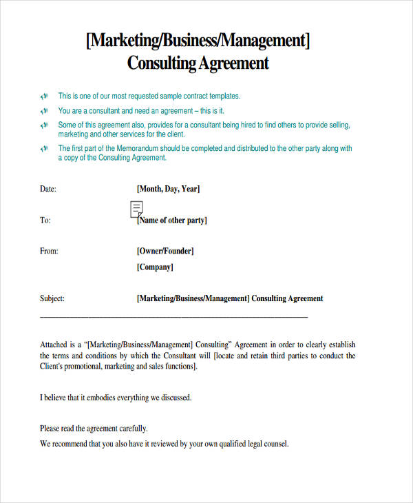 business management consulting agreement