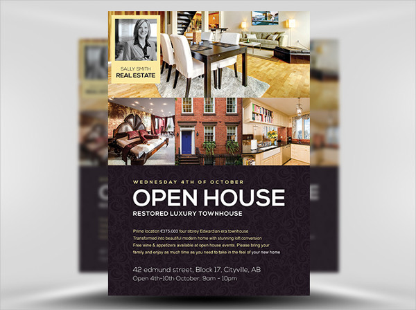business open house psd flyer