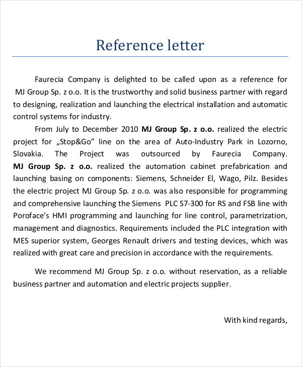 business partner reference letter
