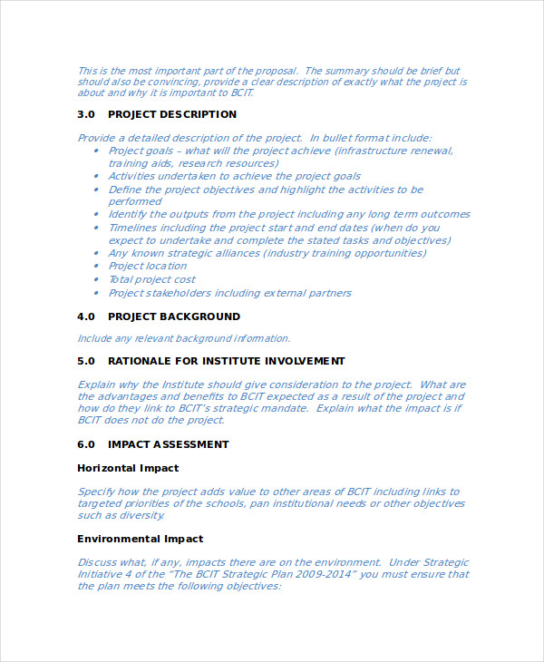 Business Research Project Proposal  Business Project Proposal Template