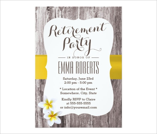 business retirement party invitation