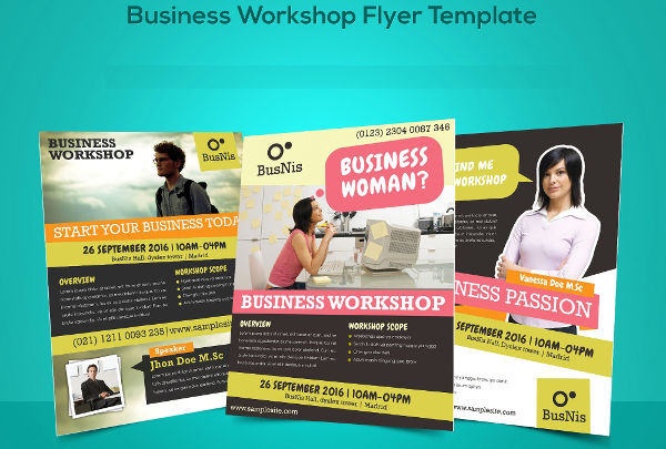 business workshop invitation flyer
