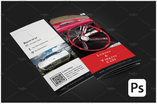 car business tri fold brochure