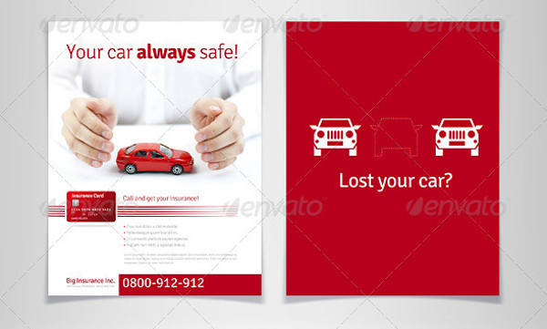 car insurance business flyer