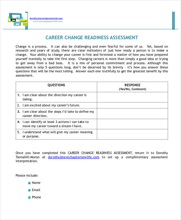 career change assessment