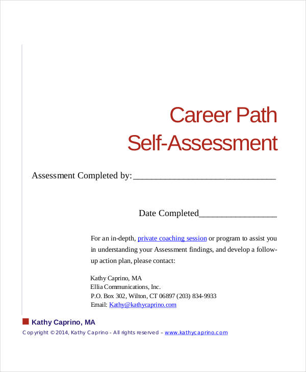 career path self assessment