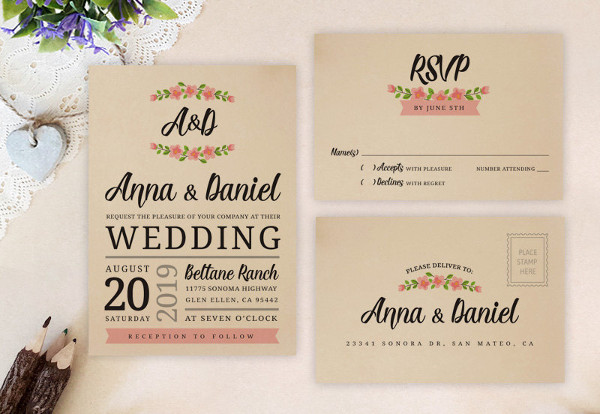47 Examples of Wedding Invitation Design PSD AI Vector EPS
