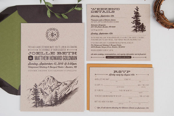 casual outdoor wedding invitation