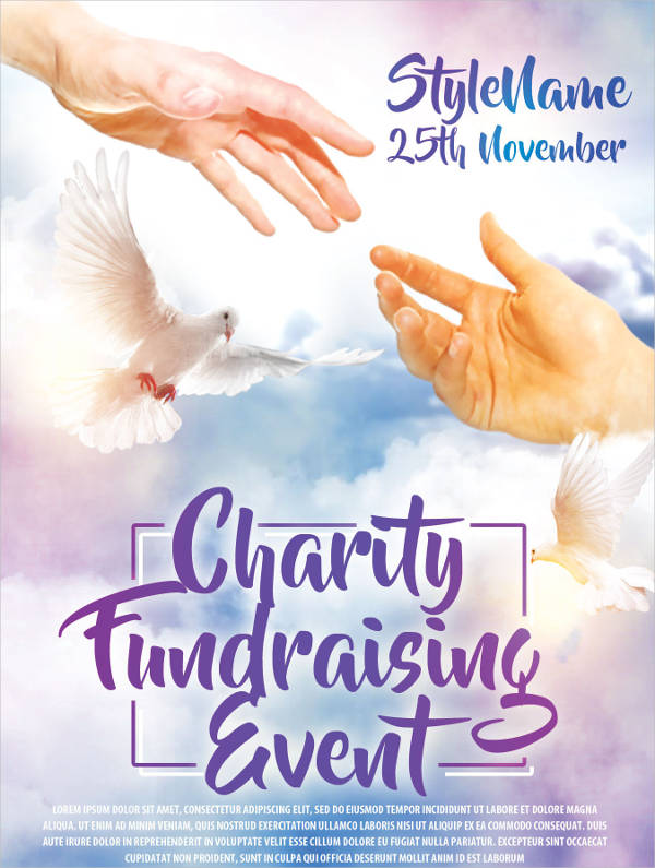 charity event psd flyer