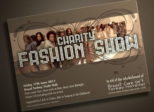 charity fashion event invitation