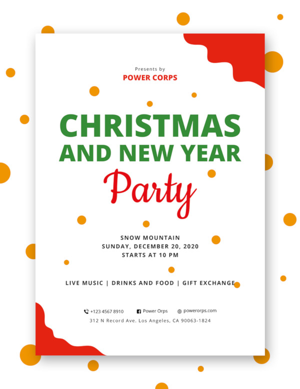 christmas new year holiday party flyer