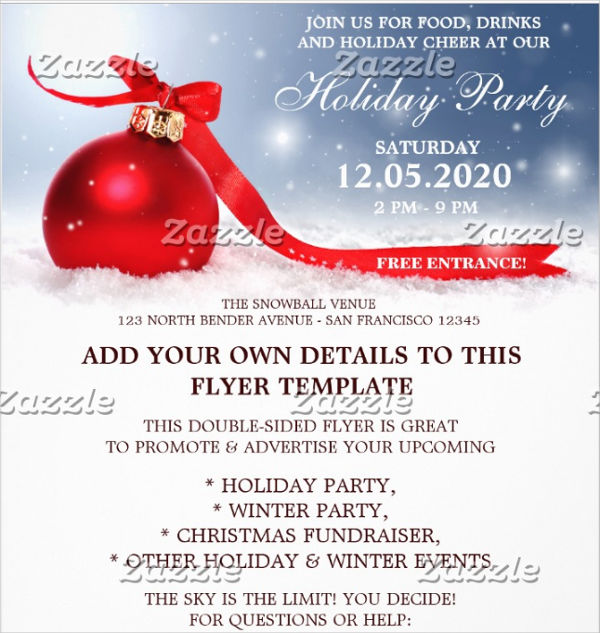 christmas office party flyer