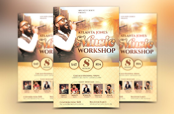 church music event flyer