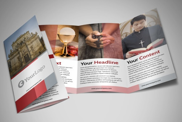 church tri fold brochure
