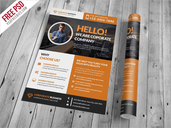 clean business corporate flyer