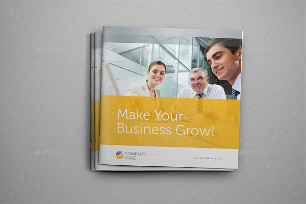 clean business square brochure