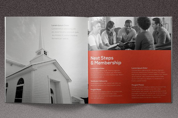 clean church brochure
