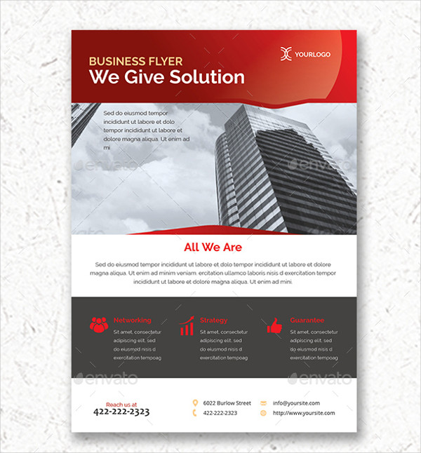 clean indesign business flyer