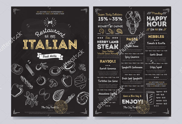 clean restaurant brochure