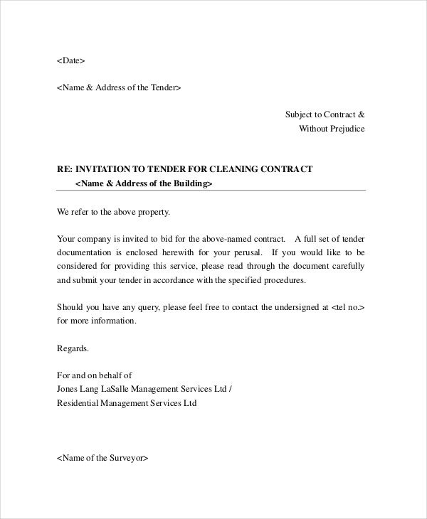 Cleaning Services Business Proposal Letter  Free Business Proposal Letter