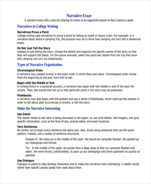"narrative essay ideas for college Updated, march 2, 2017 | we published an updated version of this list, ""650 prompts for narrative and personal writing,"" as well as a companion piece, ""401 prompts for argumentative."