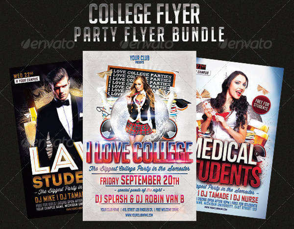college party flyer psd