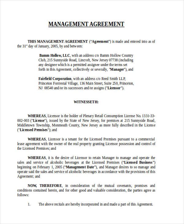 Commercial Lease Management Agreement