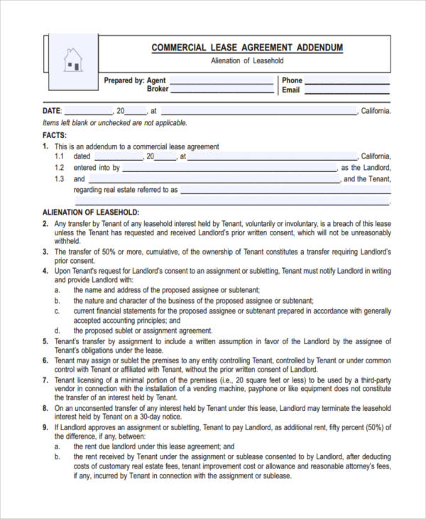 43 Commercial Agreement Examples Samples Pdf Word Pages