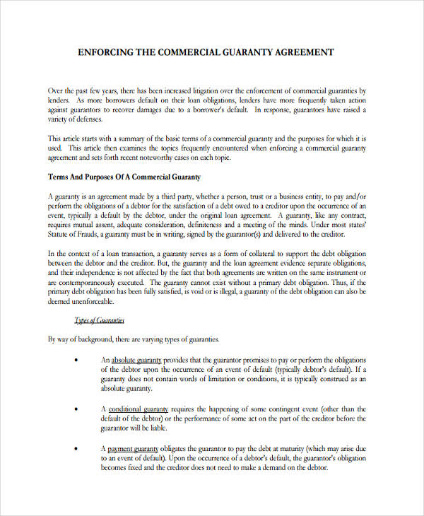 commercial loan agreement – Sample Mortgage Document