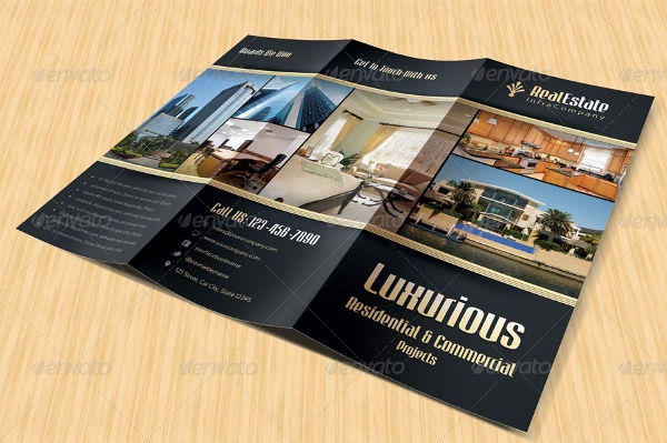 commercial real estate tri fold brochure