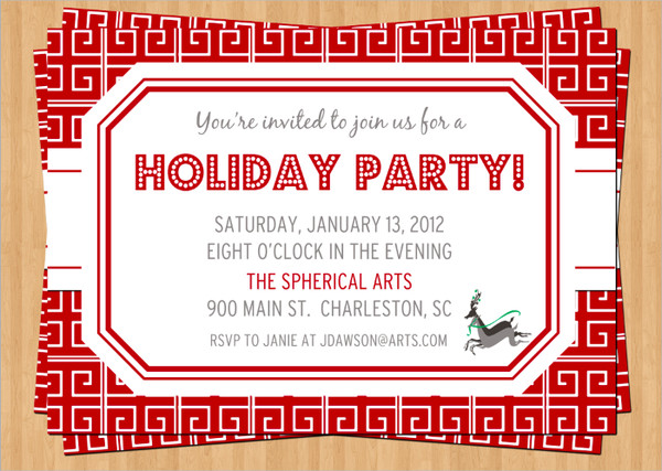 53 Party Invitation Examples – Office Holiday Party Invites