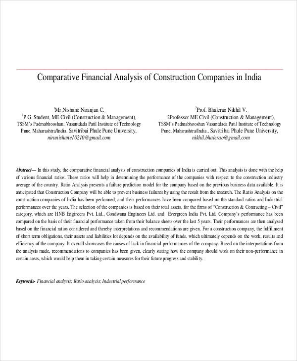 construction company analysis