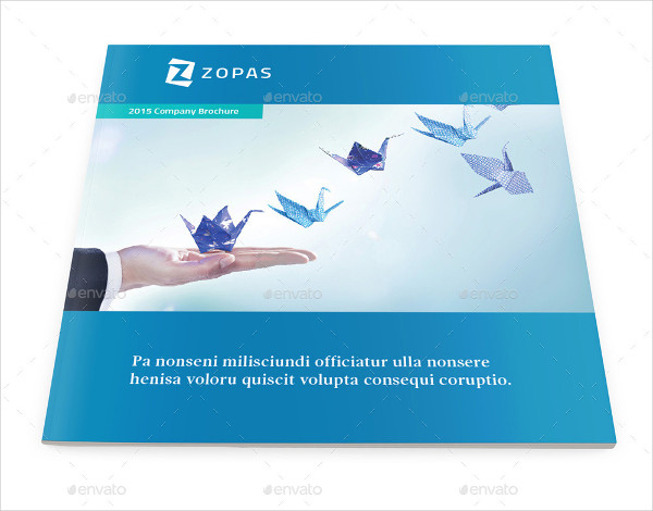 corporate company square brochure