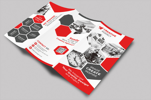 corporate company tri fold brochure