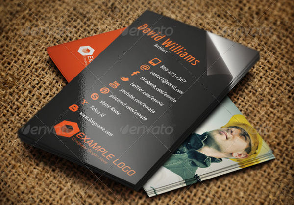 corporate construction business card