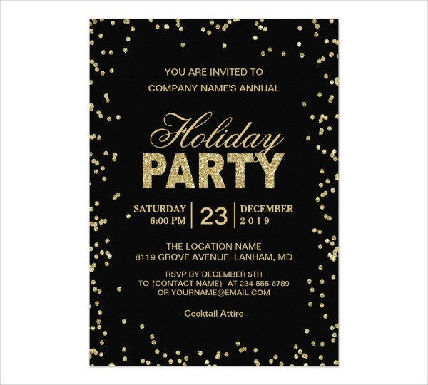 20 holiday invitation designs examples psd ai eps vector