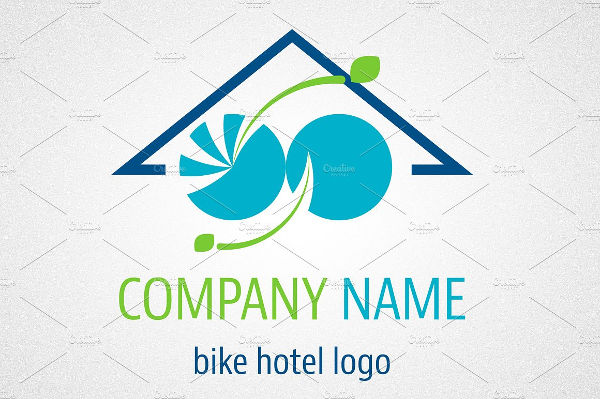 corporate hotel outline logo