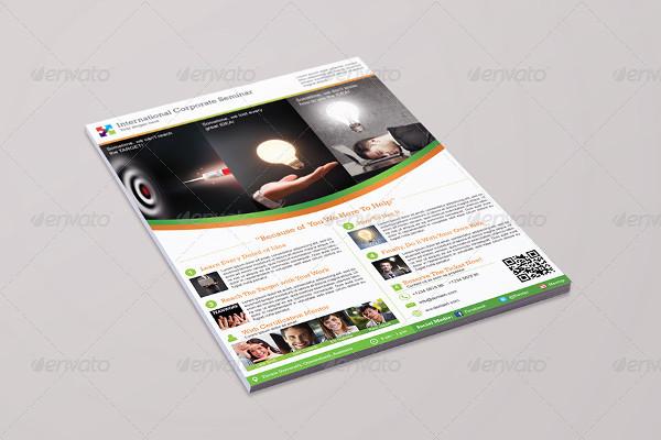 corporate seminar event flyer