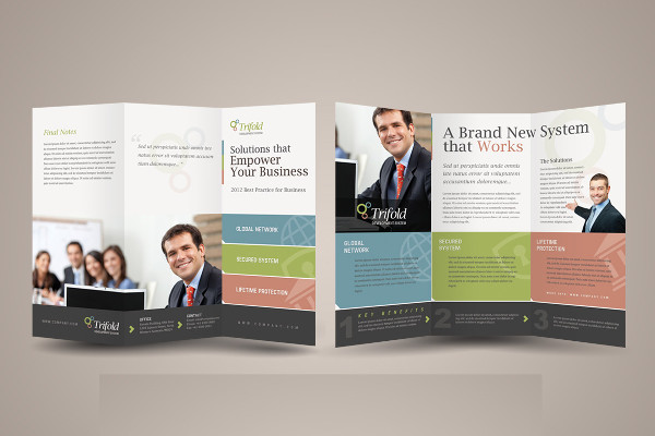 Corporate Tri-Fold Advertising Brochure